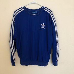 Royal blue adidas originals pullover